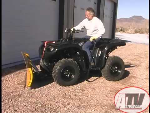 ATV Television Product Review - Warn Cyclone Plow and Manual Lift