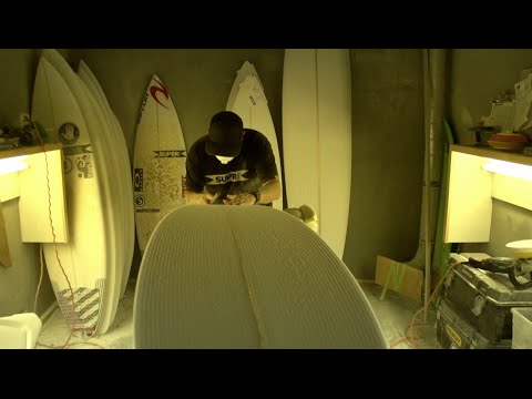 How A Surf Board is Made With Superbrand