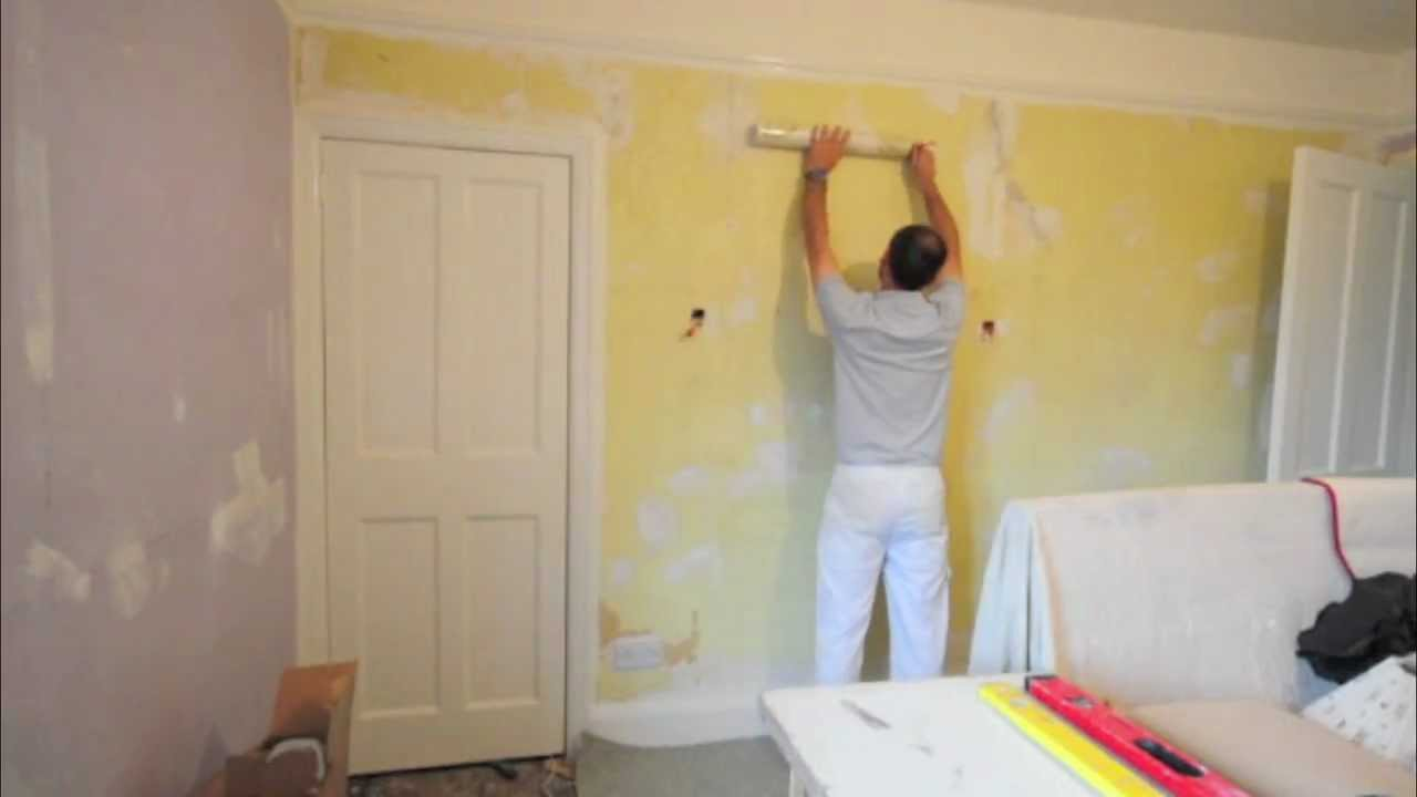 Hanging Wallpaper Paste The Wall Youtube