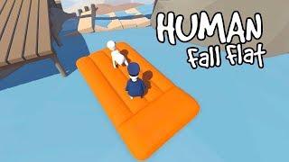 FUNNIEST RAFT RIDE!   Human Fall Flat Part 2 w/ RadioJH Games!   MicroGuardian