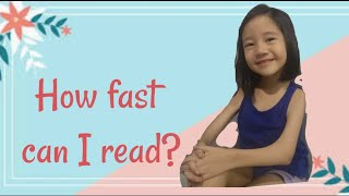 Ellie vs. Daddy (How fast can I read?)