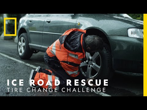 Ice Road Rescue - Tire Change Challenge   National Geographic Nordic