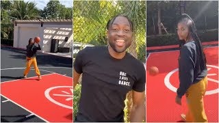 Dwyane Wade challenges wife Gabrielle Union to get a bucket in their backyard