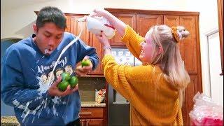 Keren Goes Crazy In The Kitchen..