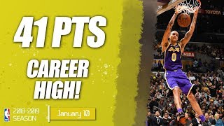 Kyle Kuzma CAREER-HIGH | 41 PTS & 5 THREES | LAL vs DET | 10.01.2019 | MH