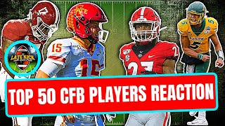 College Football's Top 50 Players *REACTION* (Late Kick Cut)