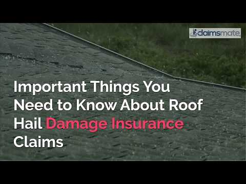 Insurance Claim Help For Roof Hail Damage
