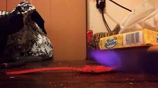 Hot knife burning through watch: short clip