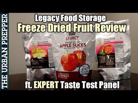 Legacy Food Storage FRUITS Review (ft. EXPERT Taste Test Panel)