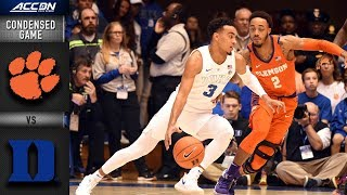 Clemson vs. Duke Condensed Game | 2018-19 ACC Basketball