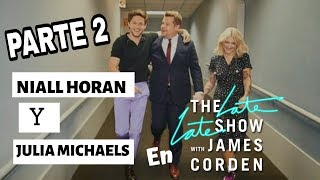 Niall Horan y Julia Michaels en Late Late Show #2 [Subtitulado]