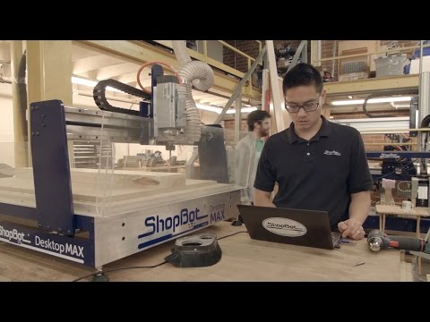 """The ShopBot Desktop MAX offers the same power and impressive precision of the ShopBot Desktop on a work bed twice the size, 36"""" x 24"""". Cut, carve, machine, and mill in wood, MDF, plastics, foams, and non-ferrous metals (like aluminum). Great for rapid prototyping, and taking your projects all the way to finished products."""