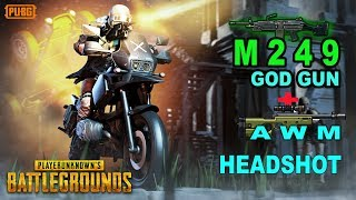 🔴[ Hindi ] Pubg Mobile : M249 God GUN + AWM HEADSHOT SE JUNG CHICKEN DINNER KE LIYE | LIVE GAMEPLAY