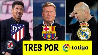 LA LIGA Atlético y Real Madrid VAN CON TODO por el título. ¿Barcelona sin chance? | Fuera de Juego