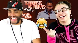 """MY DAD REACTS TO """"Terrorists vs Indians""""   Russell Peters - Outsourced REACTION"""