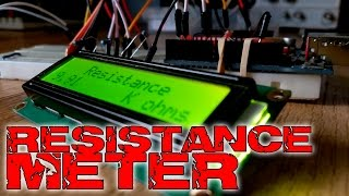 Arduino capacitane meter with LCD screen - Electronoobs