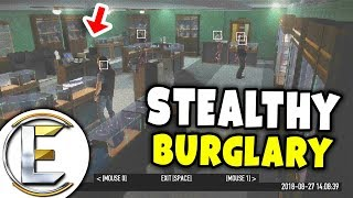 Robbing The Jewelry Shop Solo Stealth On Payday 2 - Payday 2 EP2 (Trying To Be Stealthy)