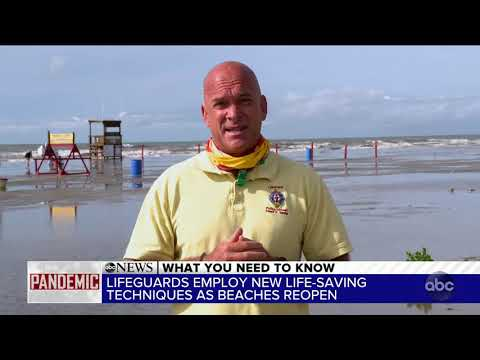Lifeguards' new life-saving techniques as beaches reopen amid the pandemic