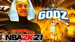 I HELPED RANDOMS PLAY BASKETBALL GODZ in NBA 2K21 with my MID RANGE SLASHER... and actually won