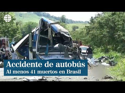 Al menos 41 muertos en un accidente de autobús en Brasil