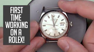 Rolex Datejust Vintage Watch Restoration