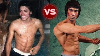 Michael Jackson vs Bruce Lee Transformation || Who is better?