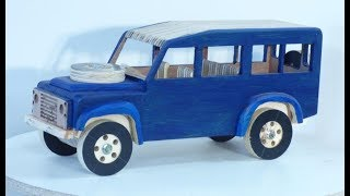173  CNC router making a Land Rover Defender 110 toy part 1