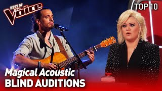 Incredible ACOUSTIC Blind Auditions in The Voice   TOP 10