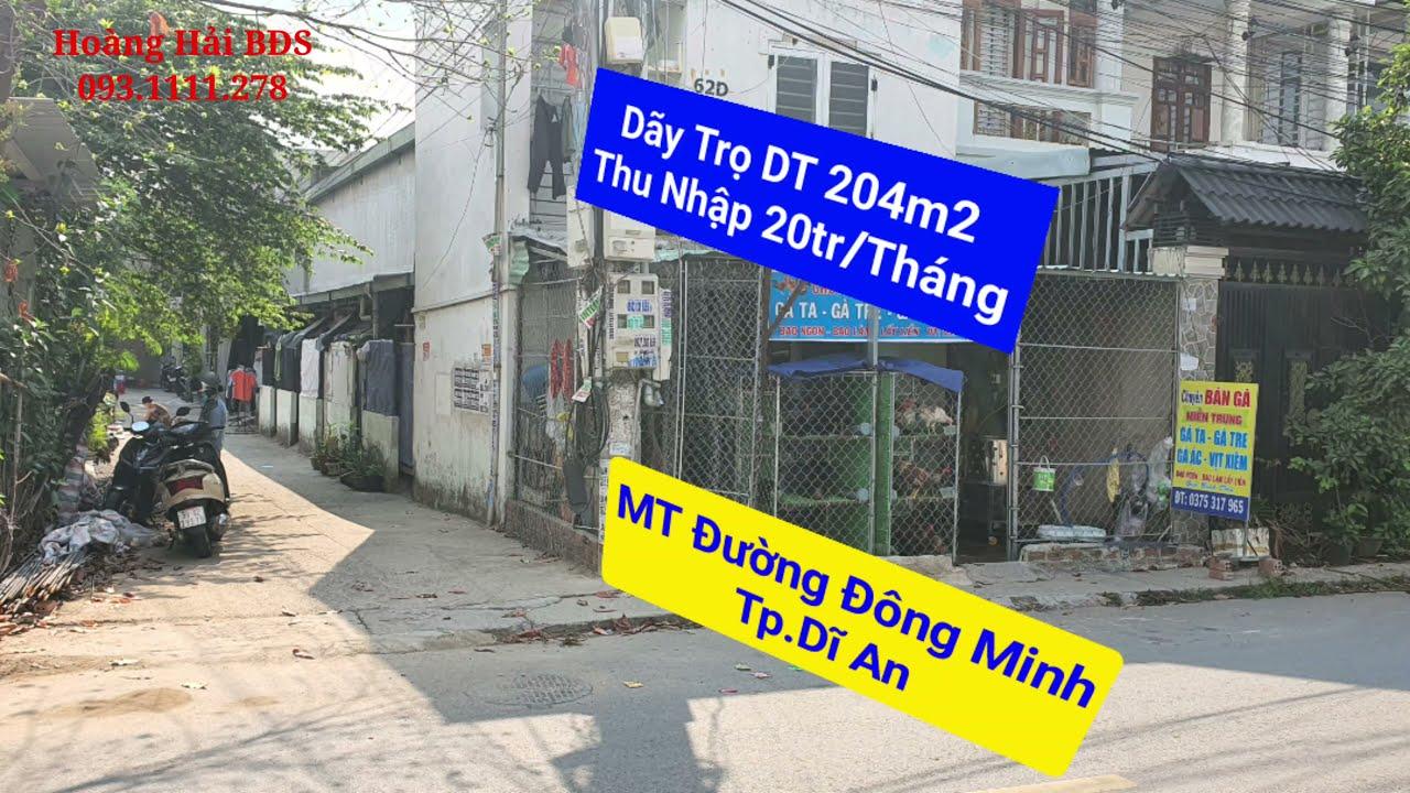 Bán nhà trọ 2 mặt tiền đường Đông Minh gần BigC, đang cho thuê 20 triệu/tháng. 093.1111.278 video