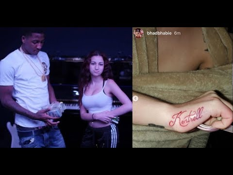 Bhad Bhabie Gets a NBA Youngboy Tattoo after Calling Out YB, Drake, Nicki for Using GHOSTWRITERS!