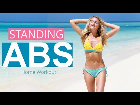 Standing Abs Workout - 10 MINUTE FAT BURN | Rebecca Louise