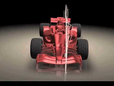 ANSYS CFD Post: Animated Streamlines over an F1 Vehicle