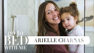 Something Navy's Arielle Charnas' Nighttime Skincare Routine | Go To Bed With Me | Harper's BAZAAR