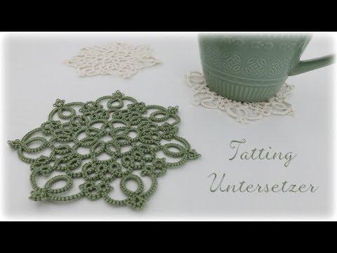 Tatting Untersetzer * DIY * Tatting Coasters [eng sub]