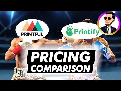 PRINTFUL vs PRINTIFY: Pricing Comparison