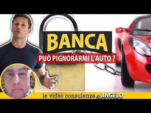 DEBITO con la BANCA: può mettere un pignoramento sull'auto? | Avv. Angelo Greco