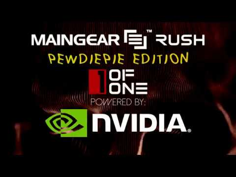 MAINGEAR + PewDiePie  1ofONE Gaming Desktop RUSH X99 SUPERSTOCK