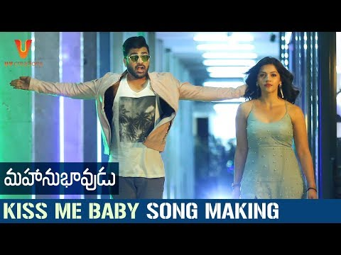 Mahanubhavudu-Movie-Kiss-Me-Baby-Song-Making