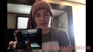 Grant Gustin (The Flash) reacts to Ezra Miller's Flash teaser | Justice League Reaction