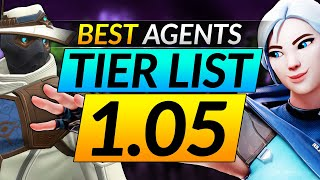 BEST AGENTS TIER LIST in NEW Patch 1.05: Ranking the Best and Worst Picks - Valorant Guide