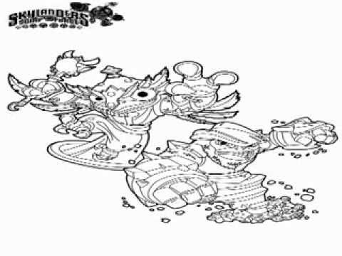 skylander wrecking ball coloring pages | Skylander Swap Force Coloring Pages - YouTube