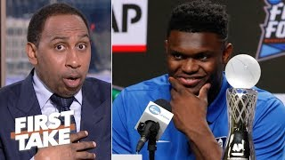 Zion has been playing against boys, he's about to face men in the NBA – Stephen A. | First Take