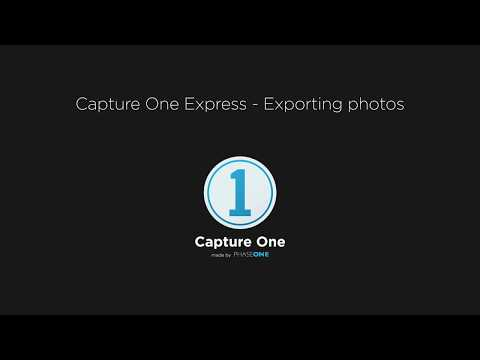 Capture One Express | Exporting images