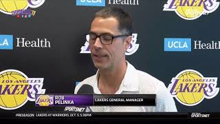 [Interview] Rob Pelinka | Now LAKERS have 8 new players on Roster