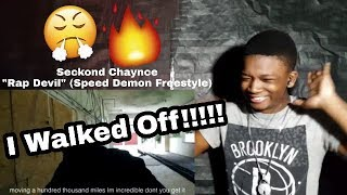 TheRealLilQuezz |  Rap Devil - Seckond Chaynce (Speed Demon Freestyle) Reaction Video