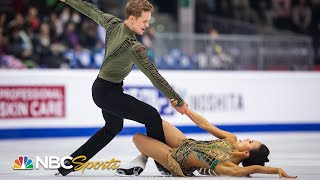 "Scorching ""snake charmer"" free dance captures U.S. championship for Chock and Bates 
