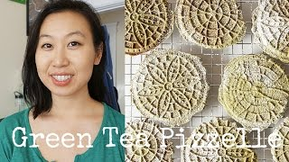 Green Tea Matcha Pizzelle Recipe