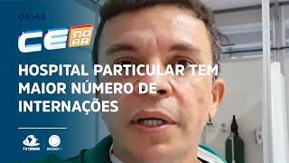 Hospital particular tem maior número de internações em 24 horas desde maio