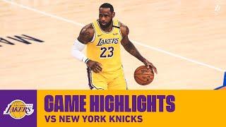 HIGHLIGHTS   LeBron James (21 pts, 6 reb, 5 ast, 5 stl) vs. New York Knicks