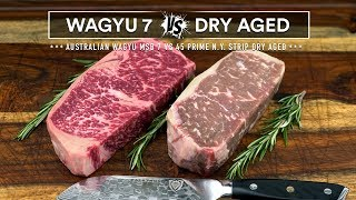 Wagyu MBS7 vs Prime Dry Aged - Steak Battle! Which is best?